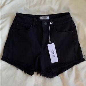 Black jean Guess Shorts Size: 27
